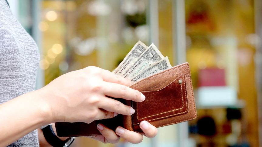 cash, dollar bills, money, shopping, wallet