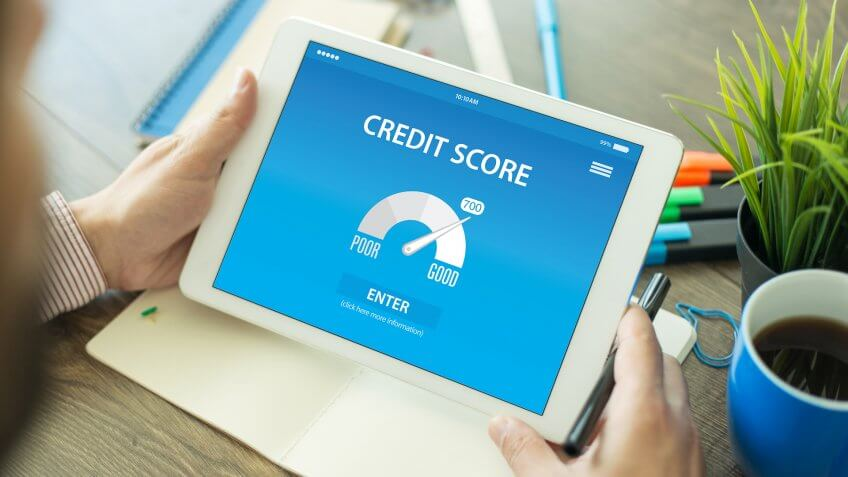 credit score, tablet