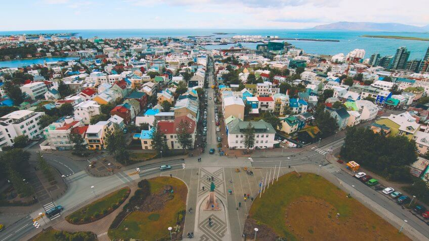 Iceland, Reykjavik, Travel, buildings, city