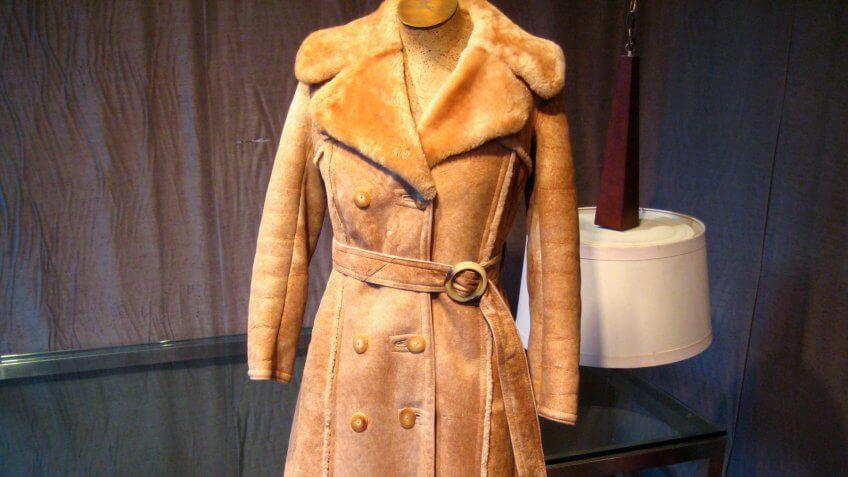coat, fashion, genuine shearling, vintage