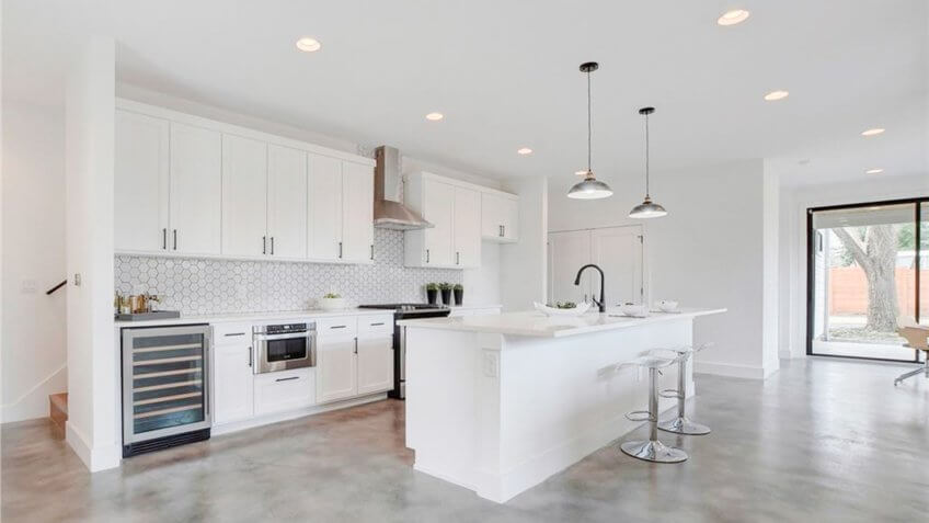 white kitchen in a contemporary style home