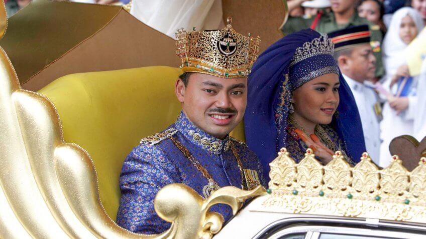 Prince Al Muhtadee Billah Of Brunei And Sarah Salleh Wedding