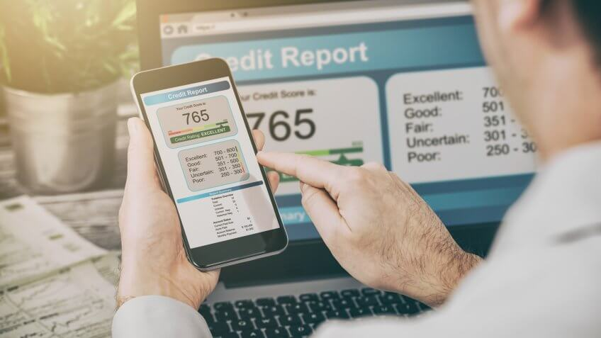 report credit score banking application risk form document.