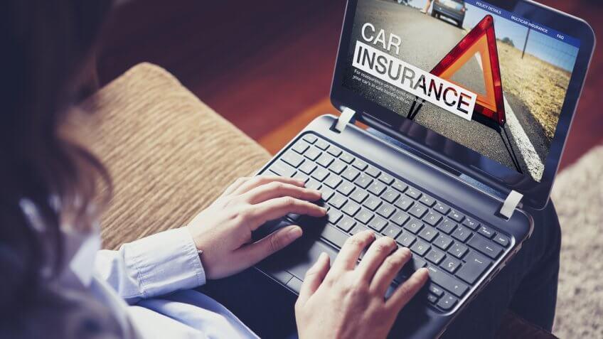 car insurance, laptop