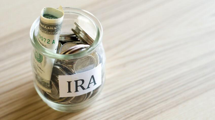 IRA, IRA contribution, IRA savings, money jar