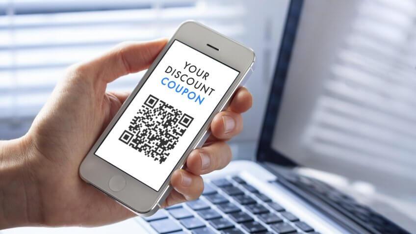 Coupon, digital coupon, discount coupon, online coupon, smartphone