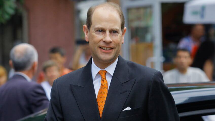 """Prince Edward, Earl of Wessex, on a visit at Community Support Center """"St."""