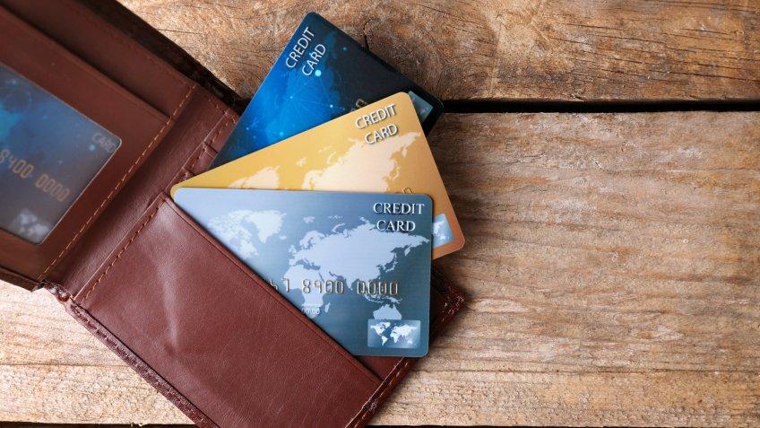 billfold, credit cards, wallet