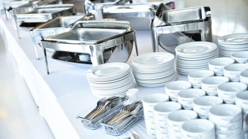 catering, plates, trays