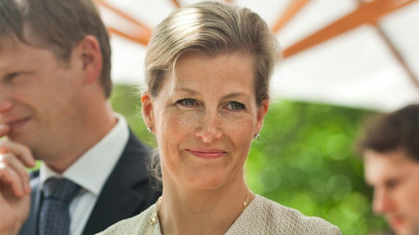 """Princess Sophie, Countess of Wessex on a visit at Community Support Center """"St."""