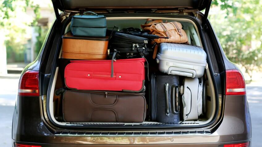 moving, packing, suitcases, trunk