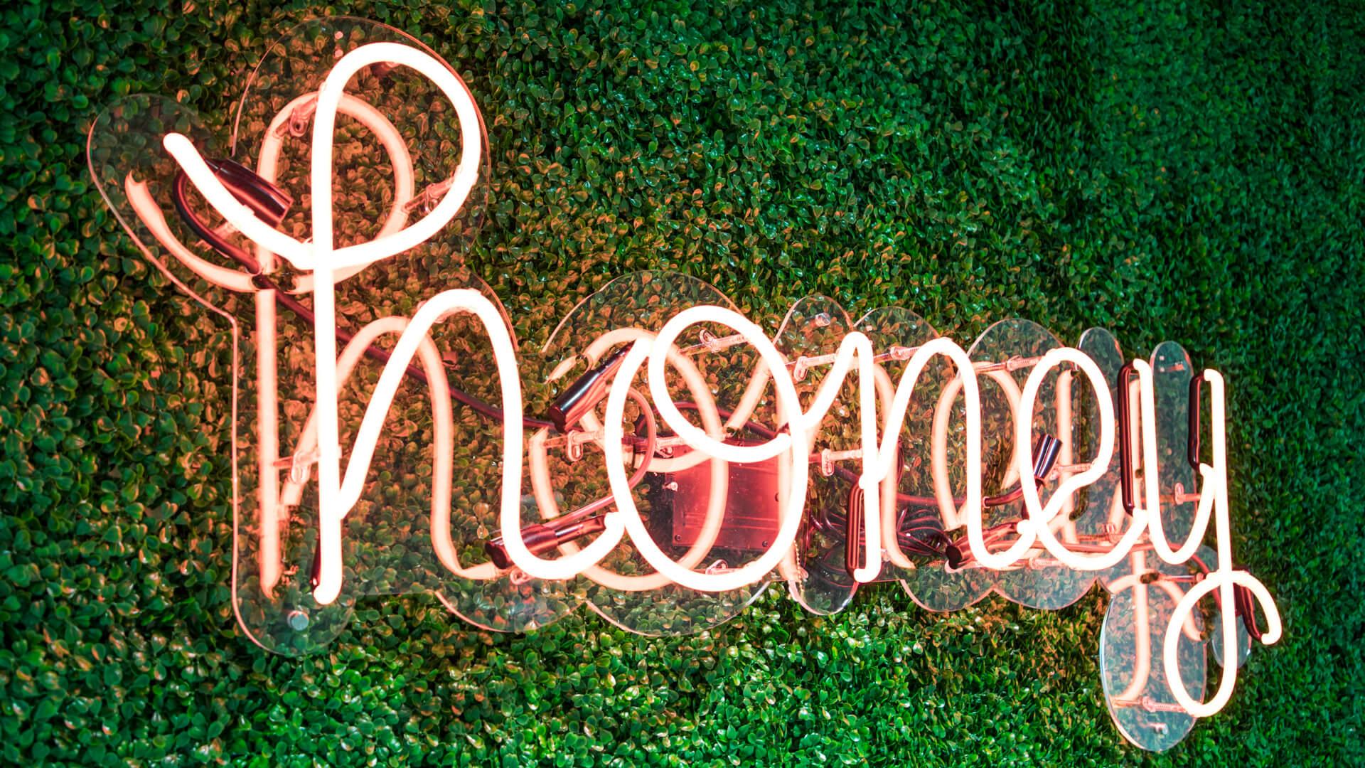 Honey neon sign