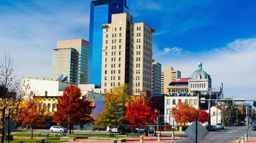 Lexington - Kentucky, Kentucky, Urban Skyline, Autumn, City.