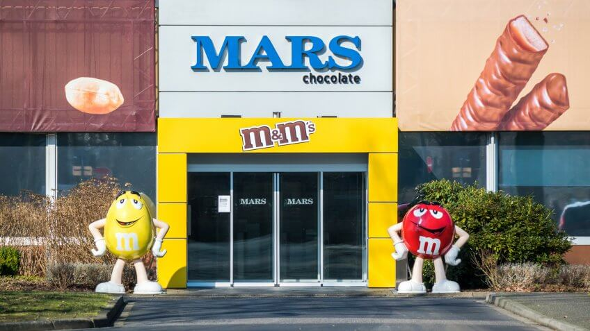 Mars chocolate company M&Ms storefront