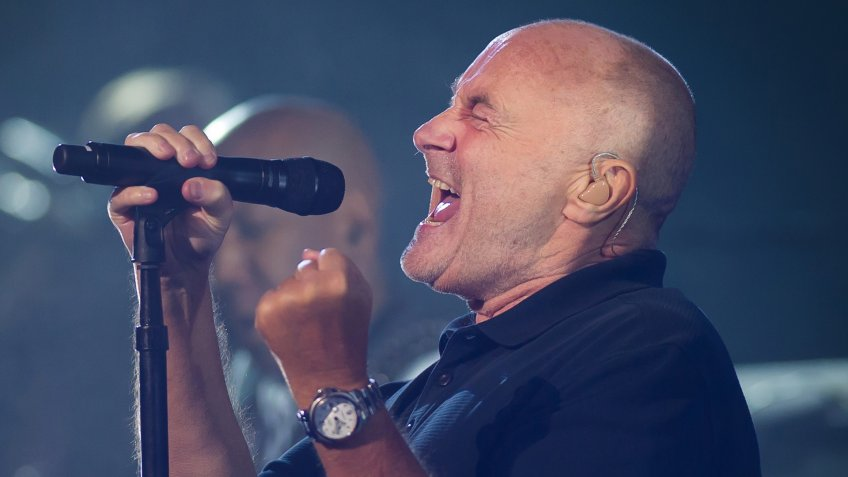 NEW YORK CITY, UNITED STATES - AUGUST 30 : Phil Collins performs at the 2016 US Open Grand Slam tennis tournament opening ceremony.