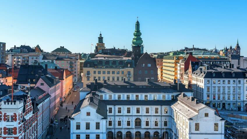 Architecture, Stockholm, Sweden, Travel, buildings, city