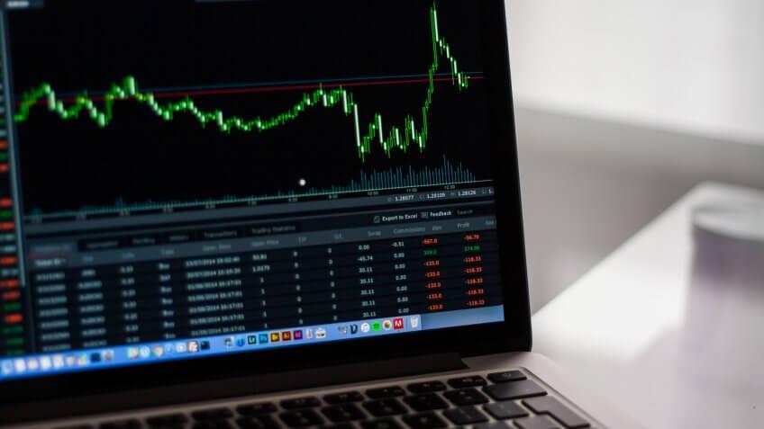 interest rate, laptop, stocks