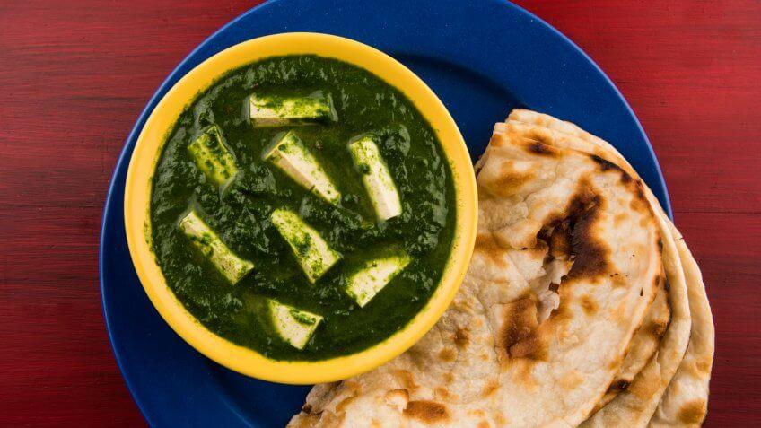 Indian food, palak paneer