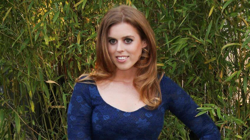 LONDON - JUN 26, 2013: Princess Beatrice of York attends the annual Serpentine Gallery summer party on Jun 26, 2013 in London.