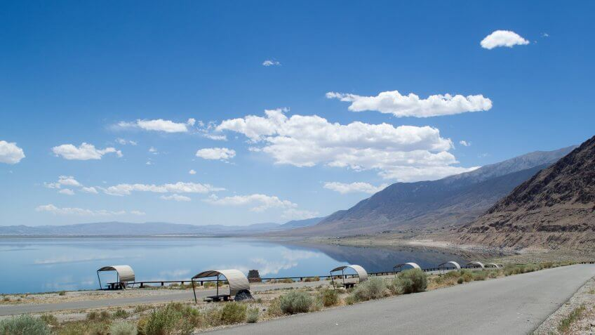 Walker Lake, from a campground north of Hawthorne.