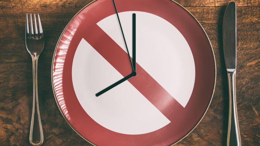 Intermittent Fasting, diet, fasting, no food, plate, utensils