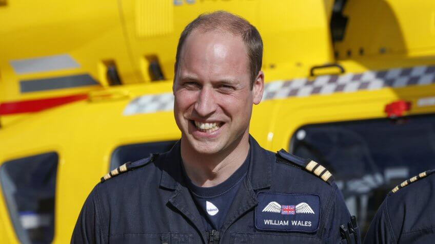 Prince William at Marshall AirportPrince William final shift with East Anglian Air Ambulance, Cambridge, UK - 27 Jul 2017Prince William starts his final shift with the East Anglian Air Ambulance based out of Marshall Airport near Cambridge.