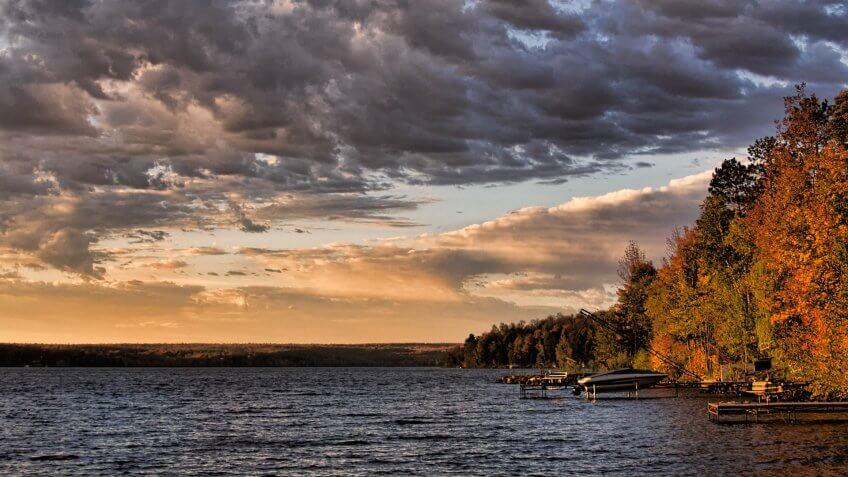 Cloud, Forest, Gogebic-County-Michigan, Michigan, Sky, Sunrise, Water, lake gogebic, nature