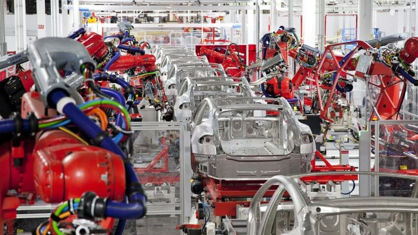 Tesla-Robots-Factory-production