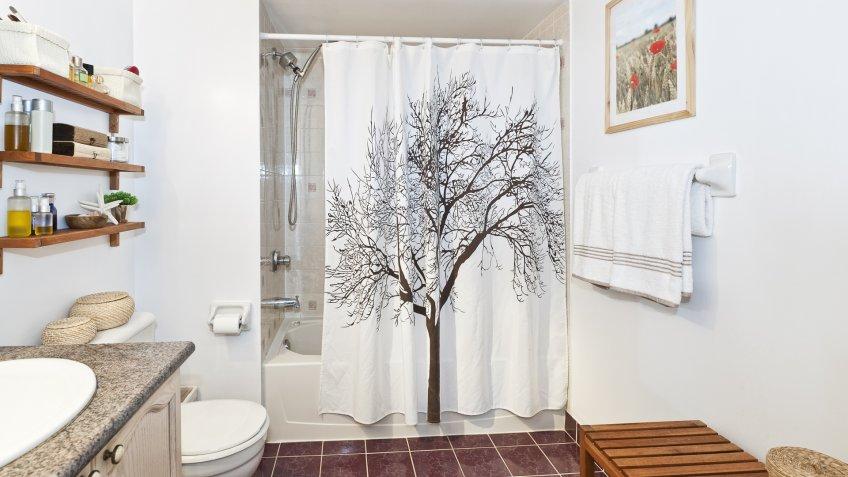 shower curtain bathroom
