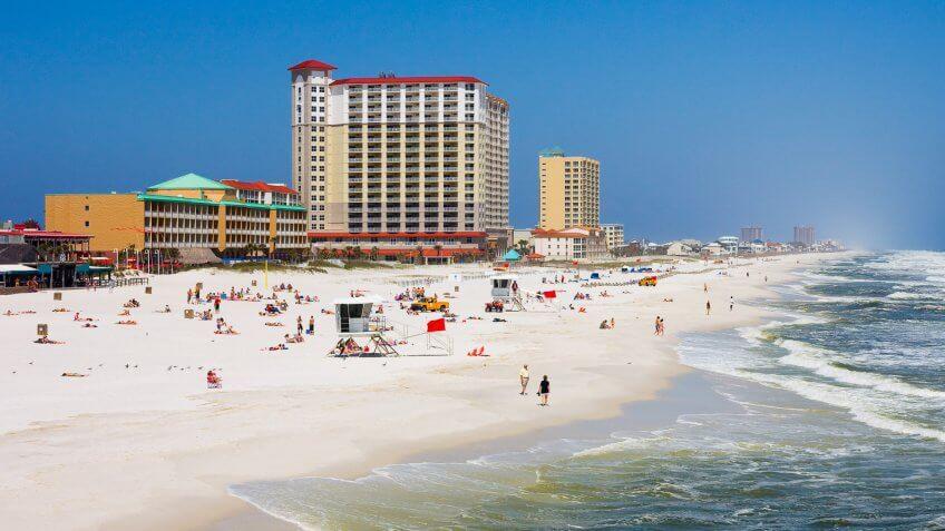 Pensacola Florida beach during summer