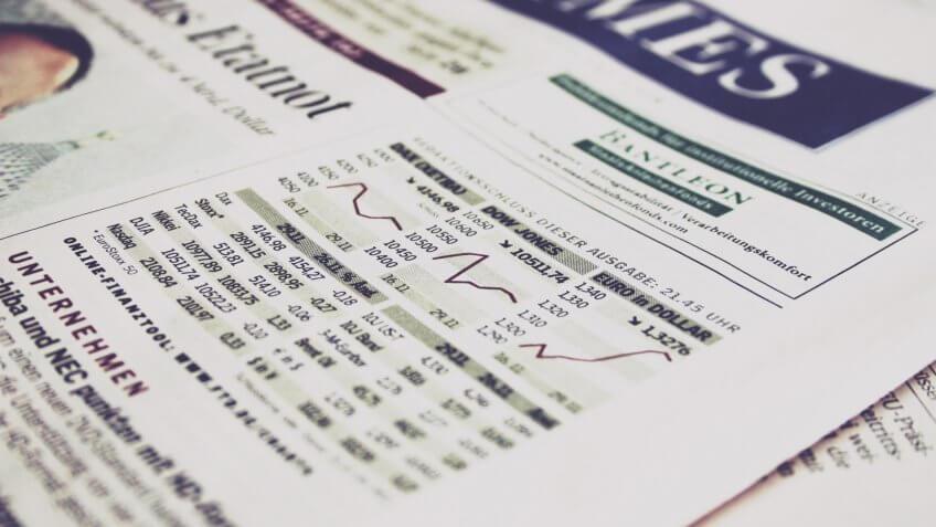 Newspaper, stocks