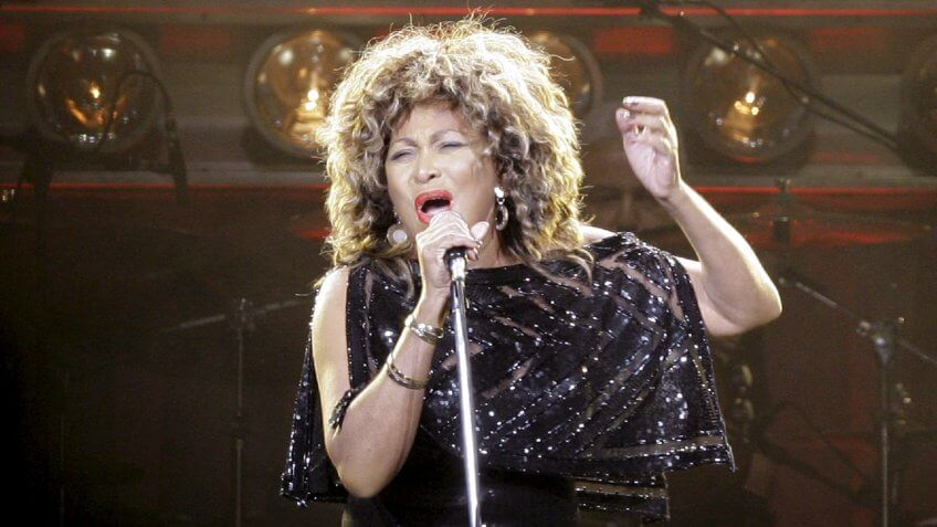 Us Singer Tina Turner Performs on Stage at the O2 World in Berlin During Her Concert Late 26 January 2009 Turner is Due to Give a Total of 16 Concerts in Germany Germany BerlinGermany Music Tina Turner - Jan 2009.