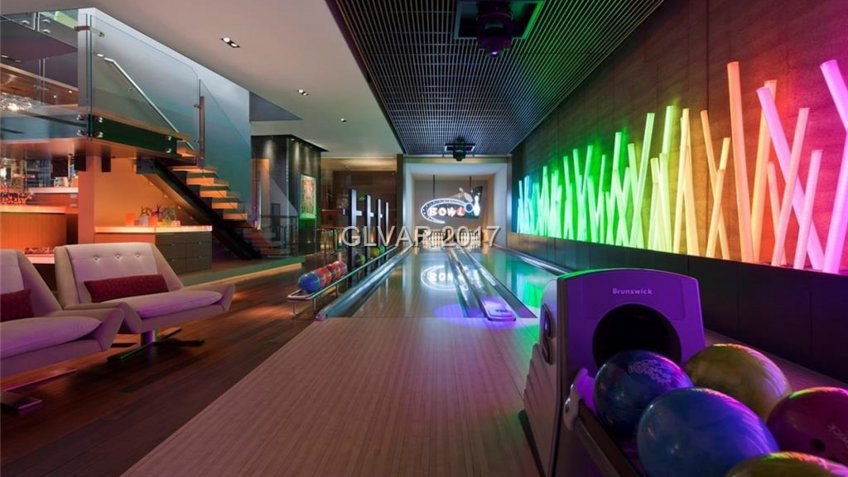 bowling lanes in a private home