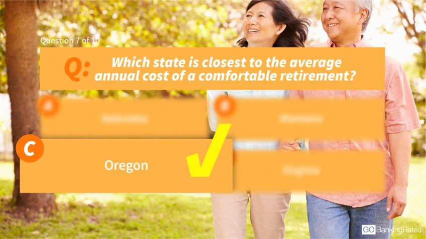 Answer: c) Oregon