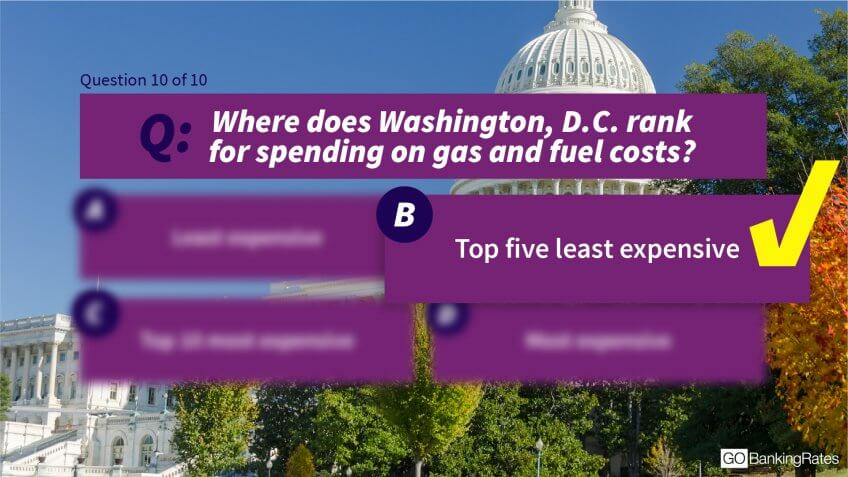 Answer: b) Top five least expensive