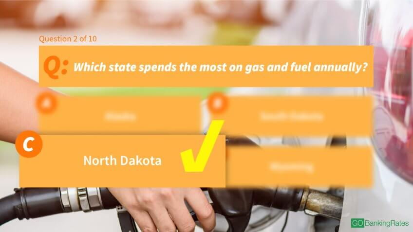 Answer: c) North Dakota