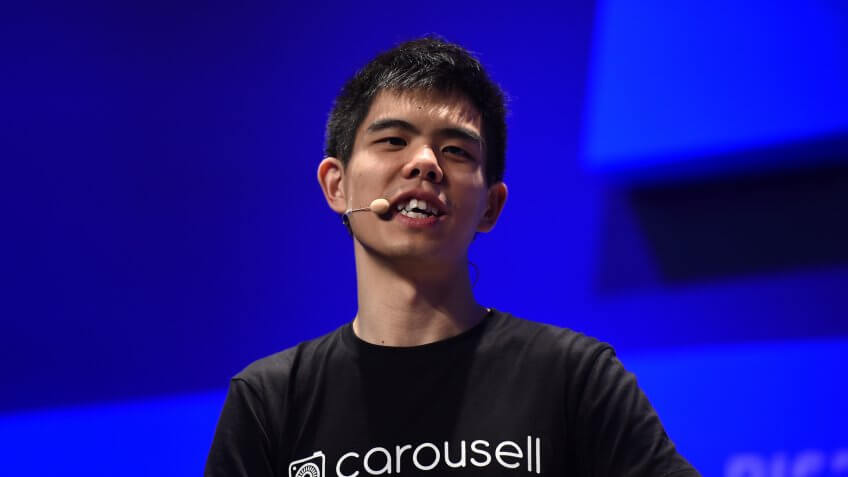 13 July 2017; Siu Rui Quek, Co-Founder & CEO, Carousell, on the Startup University stage during day three of RISE 2017 in Hong Kong.