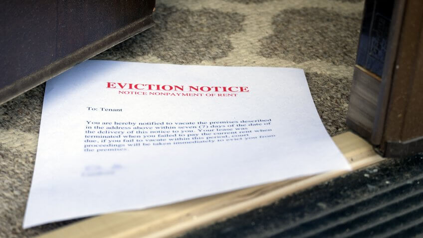eviction-notice-on-floor-slipped-under
