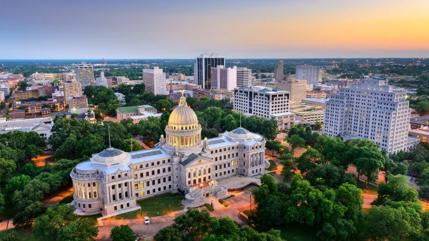 11674, How Long $1 Million Will Last in Retirement in Every State, Jackson - Mississippi, Mississippi, States, USA, United States of America, america, horizonta