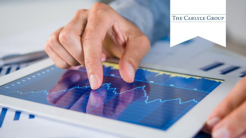 Businessman's Hand Analysing Graph On Digital Tablet.
