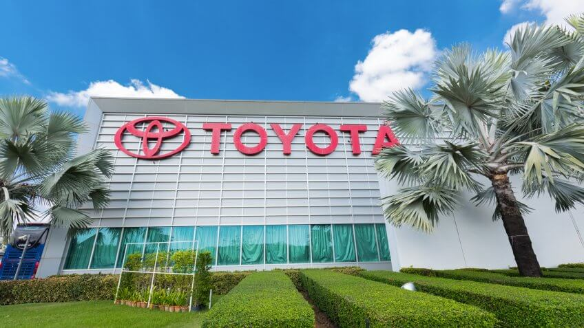 BANGKOK, THAILAND - Feb 1, 2016: Office of Toyota Assembly Plant Factory (Ban Pho) in Thailand.