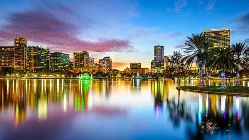Orlando Florida at dusk