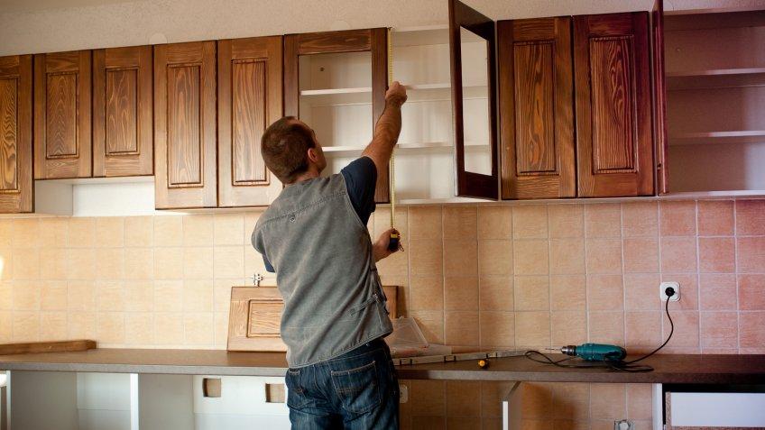 wood kitchen cabinets installation