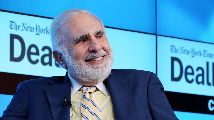 NEW YORK, NY - NOVEMBER 03:  Chairman of Icahn Enterprises Carl Icahn participates in a panel discussion at the New York Times 2015 DealBook Conference at the Whitney Museum of American Art on November 3, 2015 in New York City.