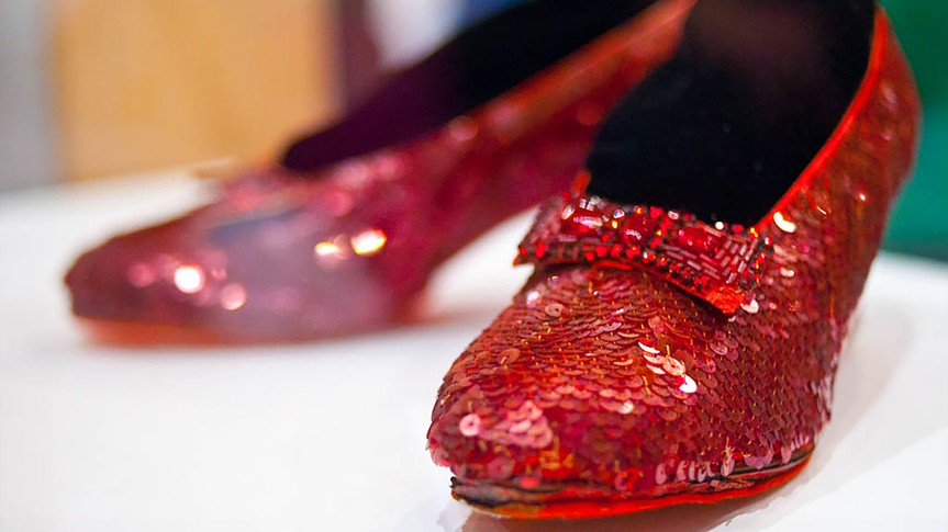 Wizard of Oz, ruby red slippers