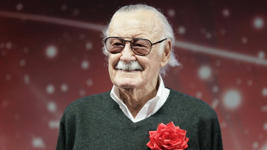 Mandatory Credit: Photo by KIYOSHI OTA/EPA-EFE/REX/Shutterstock (9253232b)Stan LeeTokyo Comic Con 2017, Chiba, Japan - 01 Dec 2017US comic book writer and producer Stan Lee attends the opening ceremony for the Tokyo Comic Convention 2017 at Makuhari Messe in Chiba, east of Tokyo, Japan, 01 December 2017.