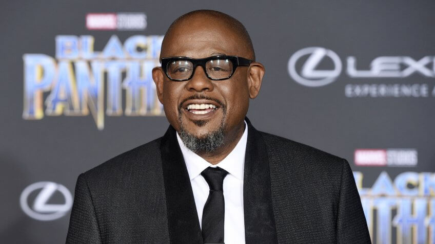 """Mandatory Credit: Photo by Chris Pizzello/Invision/AP/REX/Shutterstock (9342887m)Forest WhitakerLA Premiere of """"Black Panther"""", Los Angeles, USA - 29 Jan 2018."""