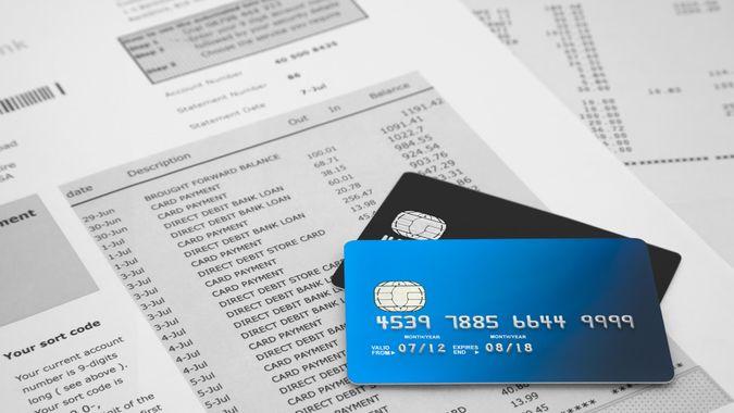 bills, credit card statement, credit cards