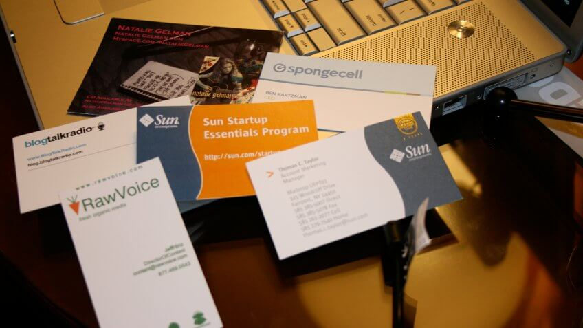 business cards, networking