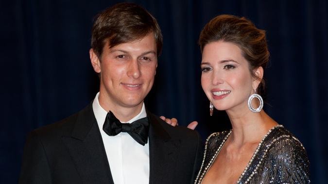 WASHINGTON - APRIL 28: Ivanka Trump and husband Jared Kushner at the White House Correspondents Dinner April 28, 2012 in Washington, D.